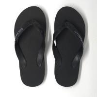 SATUAN Sandal Jepit / Sendal Jepit Sun Swallow Hitam Full Black 11-12