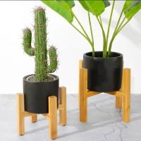 Penyangga pot tanaman design kayu modern dan elegan rak stand tanaman