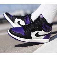 Sepatu Nike Air Jordan 1 Retro Court Purple Premium Original