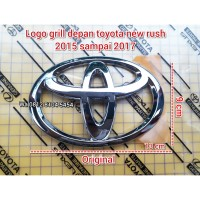 logo emblem grill depan toyota agya new rush 2015-2017 original