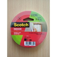 Selotip Dinding (Mounting Foam Tape) Scotch 3M 12mm