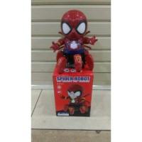 mainan robot spiderman joget dance dancing hero avengers
