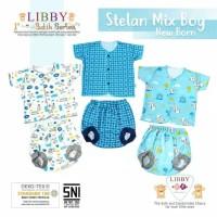 Libby Stelan Baju Pendek dan Celana Pop Bayi (0-3M)