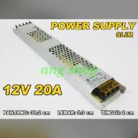 Power Supply 12V 20A Slim Tipis Switching Power Supply 12 V 10 A
