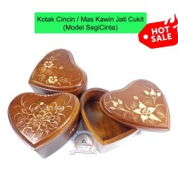 Kotak Mahar Maskawin Perhiasan Jati Ukir Cantik | Box Cincin Seserahan