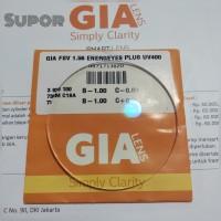 GIA Lensa kacamata Pria Energeyes anti radiasi Blue Ray Minus Cylinder