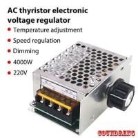 SCR 220V AC 4000W Dimmer Speed Controller Motor Lampu Bor Gerinda Heat