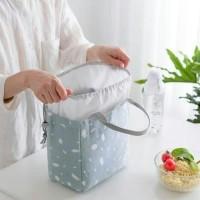 Lunch bag waterproof LINEN / tas bekal panas dingin serut