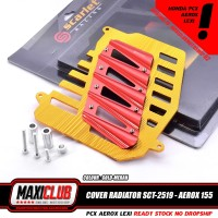variasi nmax cover tutup radiator yamaha Nmax aerox Lexi scarlet 2519