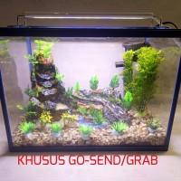 Paket aquarium air terjun aquascape fiberglass
