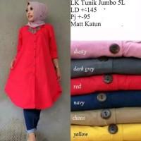 Baju Muslim Kemeja Tunik LK Gamis katun Big size Jumbo Good Quality