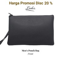 Mens Pouch Bag/Clutch Pria (100% Kulit Asli) by Leder