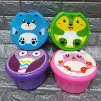 Kotak makan souvenir bulat besar kap.1000ml/kotak makan animal anak