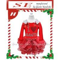 Dress Tutu anak perempuan love santa (080803)