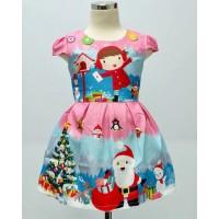 Dress Anak Natal Pink Home (082019)