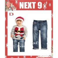 Setelan anak laki-laki natal santa (090437)