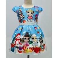 Dress Lol Xmas Blue Kids (082033)