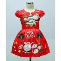 Dress Anak Perempuan Christmas Santa Red (082012)