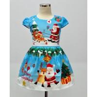 Dress anak Perempuan Santa Biru kids (082015)