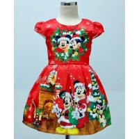 Dress Natal Anak Perempuan Mickey & Minnie Teen (082042)