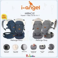 I-Angel Miracle Hipseat + Baby Carrier 4 in 1 - Gendongan Bayi