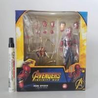 mainan action figure mafex iron spider recast artikulasi detail tinggi