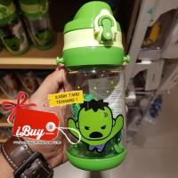 Miniso Cute HULK Botol Minum Anak With Tali GREEN