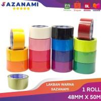 lakban warna 48mm x 50M sazanami opp warna