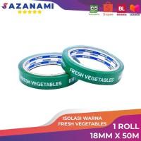 Isolasi / Lakban Sayur Fresh Vegetable Sazanami 18mm x 50m - Hijau Tosca