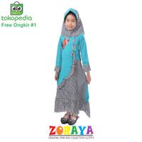 Nabilah Gamis Syari Anak Perempuan 4 5 6 Tahun Baju Muslim Dress Hijab
