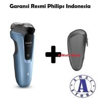 Paket PHILIPS Shaver Aqua Touch S1070 + Pouch
