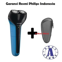 Paket Philips AT600 AquaTouch Electric Shaver + Pouch