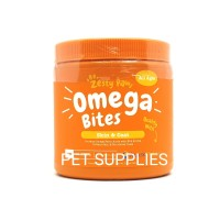 vitamin bulu dan kulit anjing kucing, OMEGA BITES by Zesty Paws (USA)