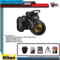 Nikon COOLPIX P1000 Paket Komplit - Super Zoom Kamera 4K UHD