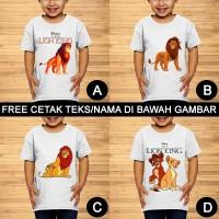 The Lion King Simba Mufasa Baju Kaos Anak dan Balita Custom Teks/Nama