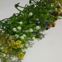 Daun tangi bunga plastik daun kecil mahar