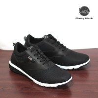 Sepatu Casual Pria Sneakers Lavio Classy Original - Hitam, 40