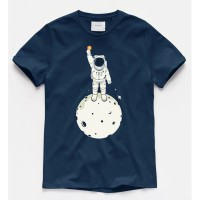 T-shirt Ast Bitcoin/ Baju Kaos Distro Pria Wanita Biru Pendek Slimfit