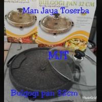 BULGOGI PAN ALAT PANGGANG BARBEQUE BBQ PANCI ANTI LENGKET MARBLE GRILL