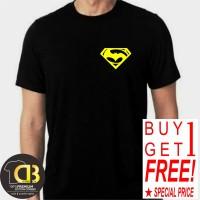 BUY 1 GET 1 T-SHIRT PREMIUM KAOS BAJU DISTRO PRIA WANITA SUPERMAN B09