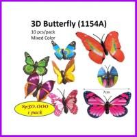 3D BUTTERFLY 1154A CORSAGE KUPU BARANG HIASAN FLORIST KUPU BUNGA