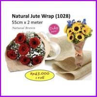 Natural Jute Wrap Lemas Barang Bunga Wrapping Paper Florist Kertas