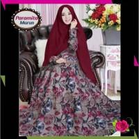 Dress Gamis Syari Monalisa Paramita Fashion Muslim Wanita Trend 2019