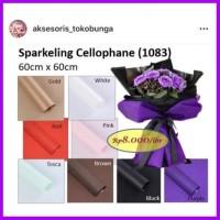 Sparkling Cellophane 20lembar Kertas Barang Bunga Buket Florist