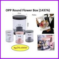 Opp Round Flower Box Barang Bunga Box Bloombox Mica Florist