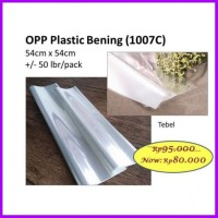OPP PLASTIK BENING TEBAL 50LEMBAR BARANG BUNGA WRAPPING FLORIST WRAP