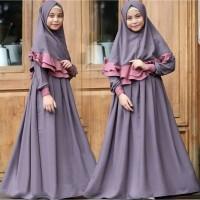 Gamis Anak Baju Muslim Perempuan Fashion Muslimah Usia 8 - 10 Tahun Em