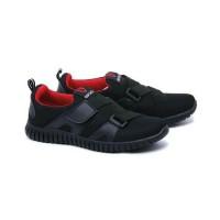 Sepatu Slip On Anak Laki-laki Hitam / Sneaker Sekolah 30-36 Garucc Smp