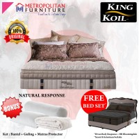 Kasur Springbed King Koil Natural Response 160 x 200 Full Set Matras