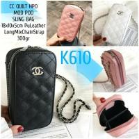TAS SELEMPANG KECIL HP K610 1kg4 CC QUILT HPO MOD POD SLING BAG
